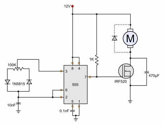 12v Dc Motor Speed Controller Schematic Simple Dc Motor